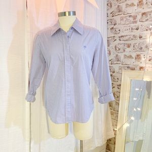 LILLY PULITZER Periwinkle Check Button Down 10